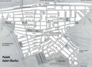 Map of Pointe-Saint-Charles by La Pointe Libertaire. URL: http://archive.lapointelibertaire.org/node/86.