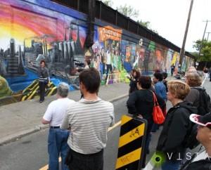 Collectif Au Pied du Mur's mural, 2013. URL: http://lecollectifaupieddumur.tumblr.com/